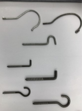 Hook with heading and threading